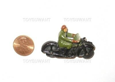 Vintage Dinky Toys 37A Motorcycle Civilian Rider Green Diecast Meccanno England