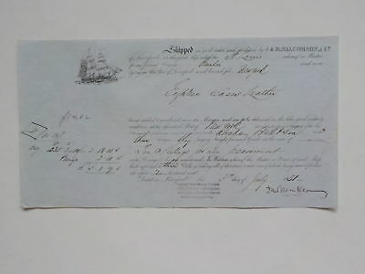 Ship Document 1851 St. Louis Liverpool England Boat VTG Paper Maritime Europe