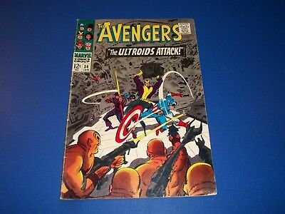 Avengers #36 Silver Age Book  Goliath Quicksilver Scarlet Witch VGF