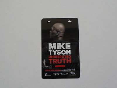 Boxing Key Card MIKE TYSON Undisputed Truth Boxer Fight Collectible MGM Grand US