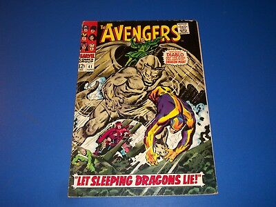 Avengers #41 Silver Age Dragon Man  Wow Scarlet Witch Solid VG