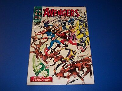 Avengers #44 Silver Age Quicksilver Scarlet Witch Solid VG+