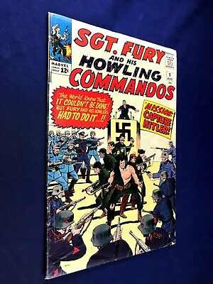 Sgt. Fury and His Howling Commandos #9 (1964 Marvel) Silver Age NO RESERVE