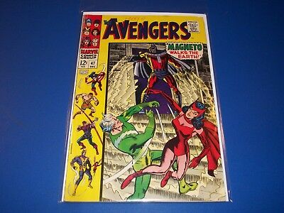 Avengers #47 Silver Age Magneto Quicksilver Scarlet Witch Wow Solid VG/VG+