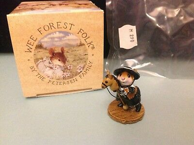 Wee Forest Folk, M-290 Clippity-Clop, Navy/Silver, new in box