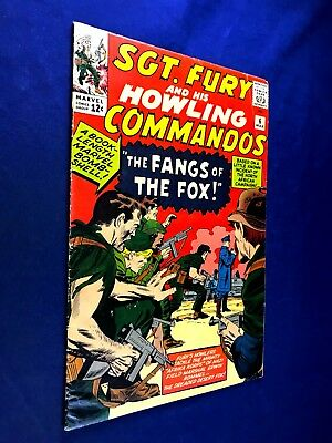 Sgt. Fury and His Howling Commandos #6 (1964 Marvel) Silver Age NO RESERVE