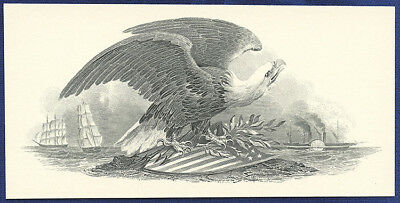 AMERICAN BANK NOTE Co. ENGRAVING: EAGLE ON SHIELD