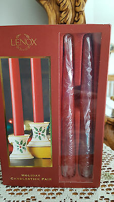 NEW  Lenox Holiday Candlestick Set