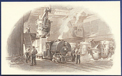 AMERICAN BANK NOTE Co. ENGRAVING: OPEN HEARTH STEEL MILL