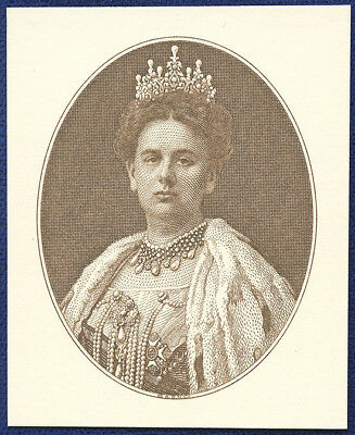 AMERICAN BANK NOTE Co. ENGRAVING: QUEEN WILHELMINA OF THE NETHERLANDS