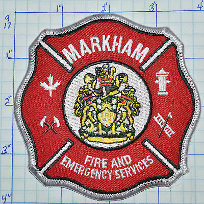 Canada, Markham Fire & Emergency Services White Edge Patch