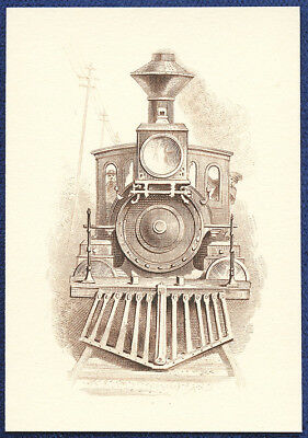 AMERICAN BANK NOTE Co. ENGRAVING: TRAIN HEAD ON 2
