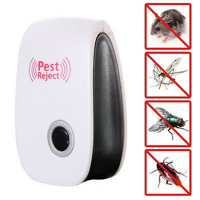 Electronic Pest Repeller Ultrasonic Rejector Mouse Bug Mosquito Insect US plug