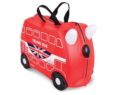 Trunki Kids' 46x31cm Boris The Bus Ride-On Suitcase - Red