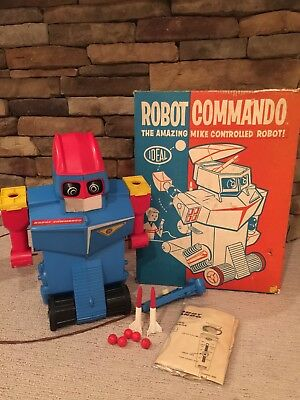 Vintage Ideal Robot Commando Space Toy  Super Clean And MIB Look!!!
