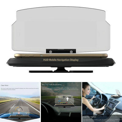 "Auto Car GPS HUD Head Up Navigation Display For 6.5"" Smart Phone Stand Holder"