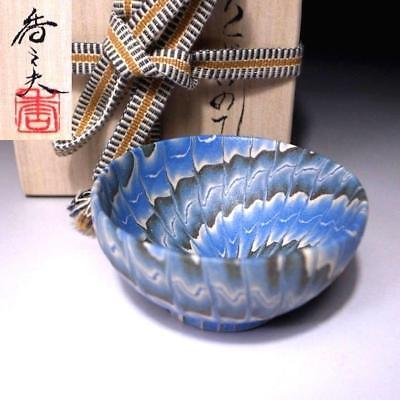 TR1: Marvelous Neriage Technique, Japanese Sake cup by Great Potter, Kamio Ogata