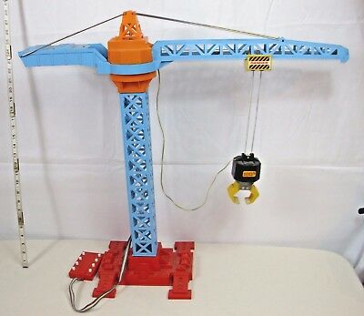 SEARS BIG TOY BOX GIANT SKY CRANE TOY BATTERY OPERATED 1960s WORKS NICE