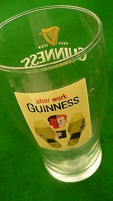 """Guinness beer glass 16 ounce ale lager """"after Work """""""