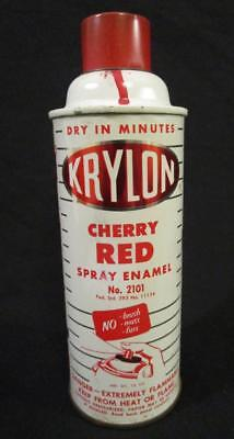 Vintage 1964 Krylon Spray Paint Can Cherry Red