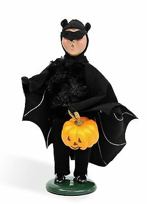Byers Choice Halloween Boy in Bat Costume 2016 Open House Exclusive Signed JB