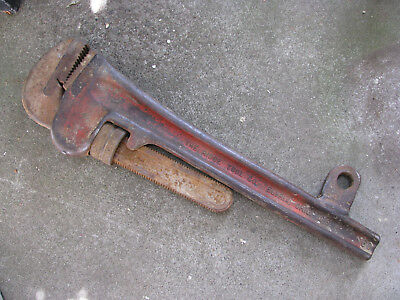 1950s RIDGID 60 in. HEAVY DUTY PIPE WRENCH moded WELL DRILLING BREAKOUT