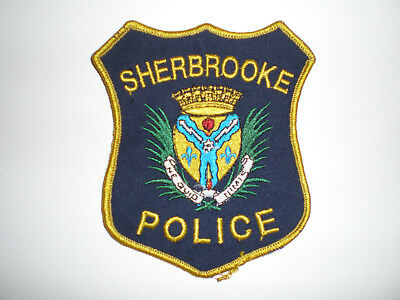 Canada Sherbrooke Police Canadian patch