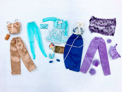 Barbie Doll Mixed Lot Clothes Pajamas Accessories Fashion Ave Mattel
