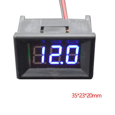 0.36inch LCD DC 5V-30V Blue LED Panel Meter Digital Voltmeter With Two-wire