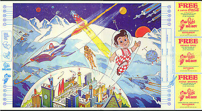 Bob's Big Boy Restaurants schoolbook cover with coupons 1981 Space Theme