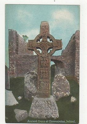 Ancient Cross At Clonmacnoise Ireland Vintage Postcard 243a