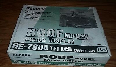 """Necvox RE-7680 Roof Mount 6.8"""" Color Display TFT LCD"""