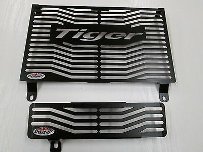 Tiger 1050, 1050 Sport (07-17) Black Radiator & Oil Cooler Guards by Beowulf