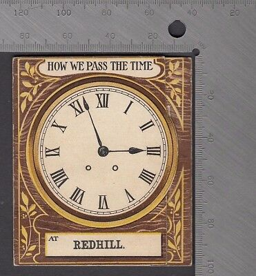 Surrey - Redhill non PC Pull-Out Featuring Amorous Couple & Clock Sequence 1910