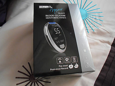 GlucoRx Nexus TD-4277 Blood Glucose Monitoring System Inc 10 Test Strips BN  NEW