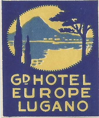 GRAND HOTEL EUROPE luggage label (LUGANO)