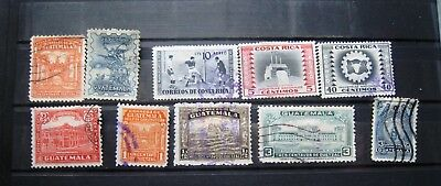 Selection Of Guatemala & Costa Rica Stamps