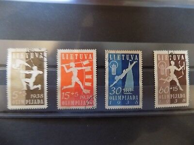 Lithuania 1938 Games Set 4 Sg 420-3