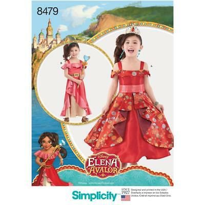 Simplicity Sewing Pattern Disney Elena Avalor Chikds Costumes Sie 3 - 8 8479