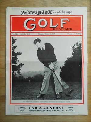 Golf Illustrated magazine from 1957 with Ken Bousfield cover