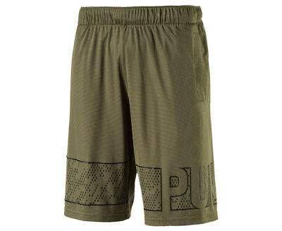 "Puma Men's Motion Flex 10"" Graphic Short - Olive Night"