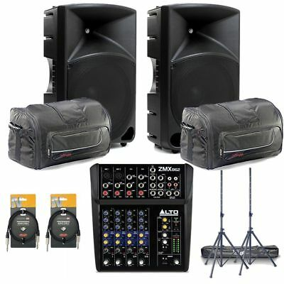 Mackie Thump 15 PA System inc. Mixer, Stands and XLRs