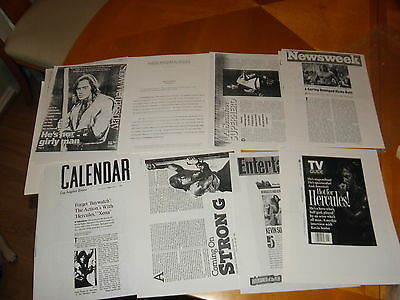 Kevin Sorbo Public Relations Firm Press Packet Biography Clippings Copies VF