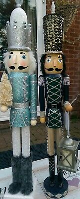 Nutcracker Soldiers Set Of Two Christmas Extra Large 62 Cms Led Light Bnwt