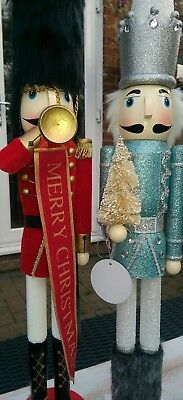 Nutcracker Soldiers Set Of Two Christmas Extra Large 62 Cms Led Tree Bnwt