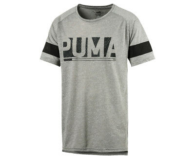 Puma Men's Energy Raglan Tee - Grey Heather