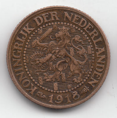 Holland Nazi 21/2 Cents 1918  Copper         12A       By Coinmountain