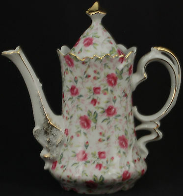 Lefton Rose Chintz Coffee Pot and Lid