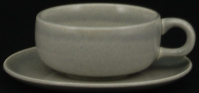 Steubenville American Modern Granite Gray Cup and Saucer