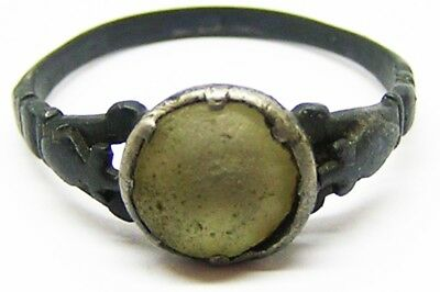 Superb 17th century Baroque Stuart Period Silver Royalist Ring Size 9 1/4